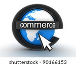 Abstract symbol e-commerce (done in 3d) - stock photo
