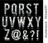diamond alphabet letters   Shutterstock .eps vector #90166297