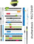 web navigation menus   Shutterstock .eps vector #90173449
