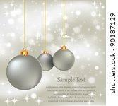 christmas ornaments | Shutterstock .eps vector #90187129