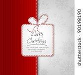 elegant christmas background... | Shutterstock .eps vector #90198190