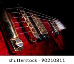 Music Concept With Red Electric ...