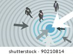 business people and arrows... | Shutterstock .eps vector #90210814