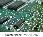 green motherboard macro | Shutterstock . vector #90211396