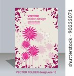 vector folder design on floral... | Shutterstock .eps vector #90233071