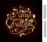 elegant merry christmas... | Shutterstock .eps vector #90256570