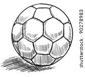 Doodle style soccer or futbol vector illustration - stock vector