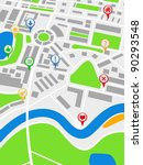 abstract map with pointers ... | Shutterstock .eps vector #90293548