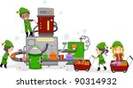 illustration of kids working in ... | Shutterstock .eps vector #90314932