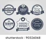 vector vintage labels  discount ... | Shutterstock .eps vector #90326068
