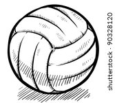 doodle style volleyball sports... | Shutterstock .eps vector #90328120