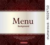 vector. restaurant menu design | Shutterstock .eps vector #90329710