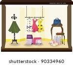 stylish fashion display   sale... | Shutterstock .eps vector #90334960