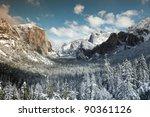 Winter View Of  El Capitan ...