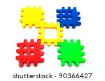 puzzle piece isolated on white... | Shutterstock . vector #90366427