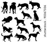 Stock vector cats silhouette collection 90367336