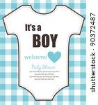 cute baby shower design. vector ... | Shutterstock .eps vector #90372487