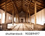 ruins of a very heavily... | Shutterstock . vector #90389497