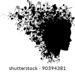 music head - stock vector