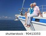 A Happy Senior Couple Sitting...