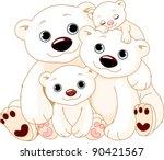 illustrationn of big polar bear ...   Shutterstock .eps vector #90421567
