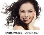 portrait of attractive ... | Shutterstock . vector #90434557