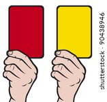 Soccer Referees Hand With Red...