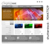 gray website template 960 grid. | Shutterstock .eps vector #90447529