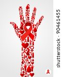 hand silhouette made with aids... | Shutterstock .eps vector #90461455