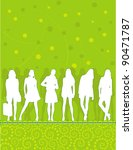 silhouettes of young people... | Shutterstock . vector #90471787