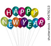 multi coloured happy new year... | Shutterstock .eps vector #90478213
