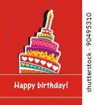 Vector Happy Birthday Card....