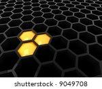 high tech 3d black   dark... | Shutterstock . vector #9049708