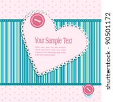 background  with a button  card ... | Shutterstock . vector #90501172