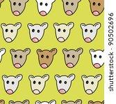 funny little mouse seamless... | Shutterstock .eps vector #90502696