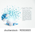 open gift with fireworks from... | Shutterstock .eps vector #90503005
