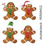 gingerbread set | Shutterstock .eps vector #90504412