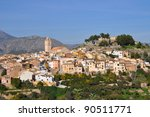 polop skyline and castle an... | Shutterstock . vector #90511771