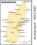 madagascar country map | Shutterstock .eps vector #90517687