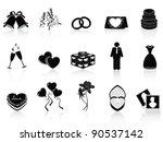 black wedding icons set | Shutterstock .eps vector #90537142