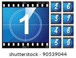 old film cell elements count... | Shutterstock .eps vector #90539044
