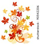 Autumnal leaves background for thanksgiving or seasonal design. Jpeg version also available in gallery - stock vector