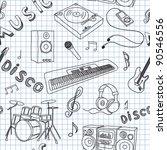 vector illustration on music | Shutterstock .eps vector #90546556