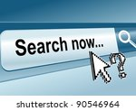 web page with search toolbar... | Shutterstock .eps vector #90546964