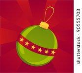 colorful christmas ball...   Shutterstock .eps vector #90555703