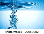 blue splashing water with... | Shutterstock . vector #90563002