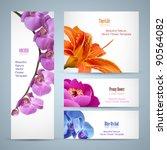 flower brochure design. vector... | Shutterstock .eps vector #90564082