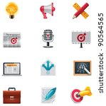 Vector marketing icon set - stock vector