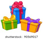 cartoon gifts. all are on... | Shutterstock .eps vector #90569017