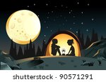 a vector illustration of two... | Shutterstock .eps vector #90571291